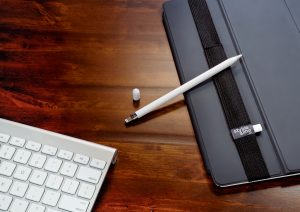 The Stylus Sling helps you keep your Apple Pencil and USB adapter attached to your iPad Pro.