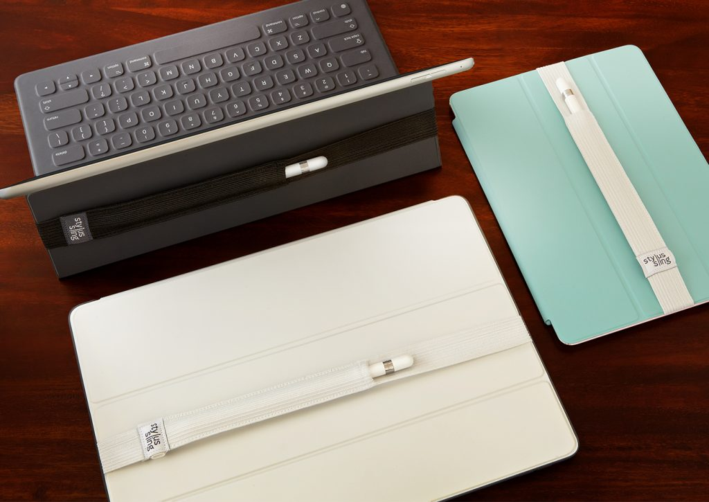The Stylus Sling works on the Apple Smart Cover and Smart Keyboard